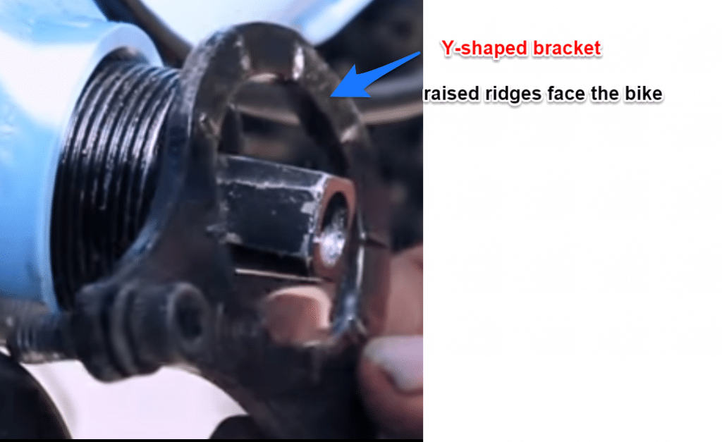 Y shaped bracket for Bafang mid drive motor install