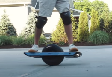 Man on Onewheel - personal electric vehicle